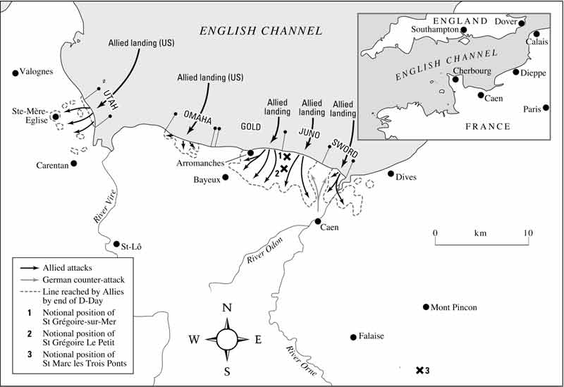 The Normandy landings  (Operation Neptune)