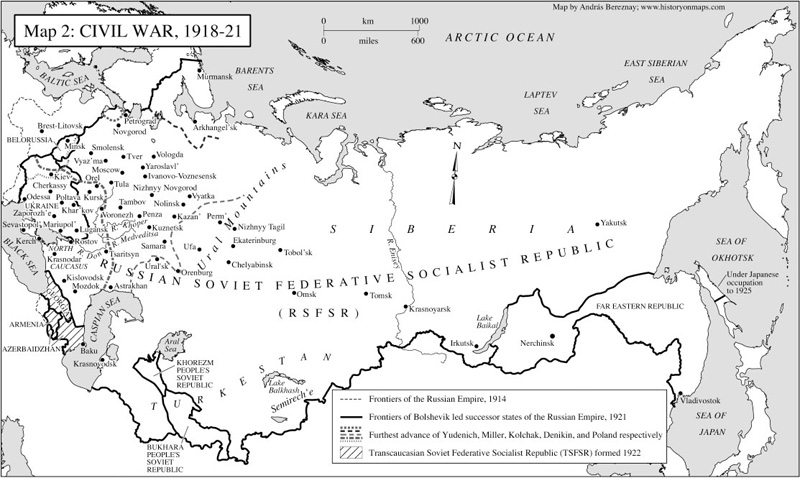 Civil war in russia 1918 21