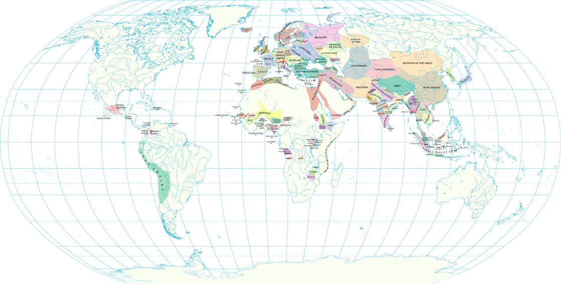 Maps World Map 1500